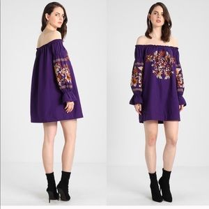 FREE PEOPLE Fleur Du Jour Boho Off Shoulder Dress